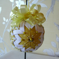 Folded fabric Sunshine Yellow Hanging Decoration