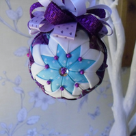 Folded Fabric Hanging Decoration