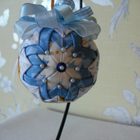 Folded Fabric Baby Boy Hanging Decoration