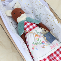 Heirloom Fox Doll for Danette and additional embroidered dress