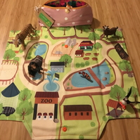 Travel Play Mat - Zoo