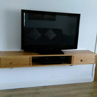 floating TV unit.