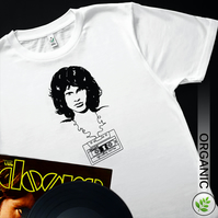 Music Legends: Jim Morrison UNISEX T Shirt