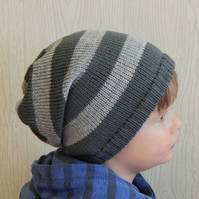 toddler boy winter hat, knit baby slouch beanie, slouchy hats for infant boys