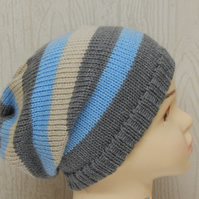 winter hat for toddler boy, infant slouch beanie, baby boy knitted slouchy hats