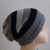 striped kids hats, slouchy beanie for boy, toddler slouch beanies, infant hat
