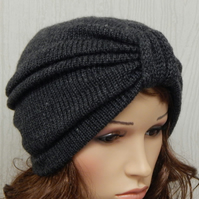 knit hat for women, handmade full turban hat, warm beanie, knitted hats