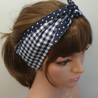 Self tie women pin up headband