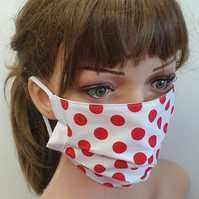Women face mask dotted mask