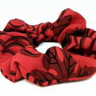 Red women hair scrunchie