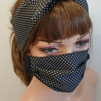 Set headband and face mask for women