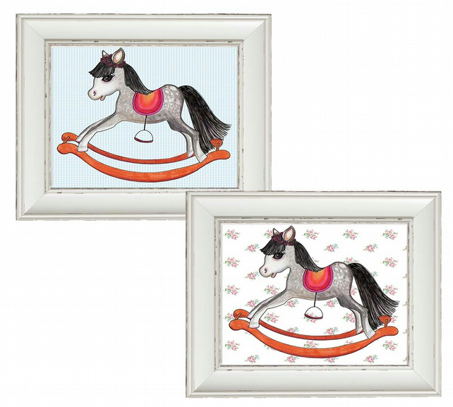 Little Rocking horse art for boys or girls.