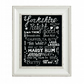 Yorkshire sayings and phrases chalk art print. Sheffield accent.