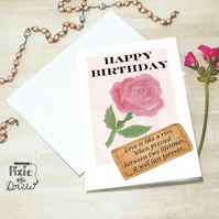 Birthday card for the one you love. Wife, husband, girlfriend, boyfriend card.