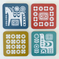 COASTER SET Swedish Mid Century Scandinavian Scandi Dala Horse Retro Coasters