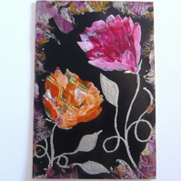 4X6 Rose Painting With GLITTER 003.