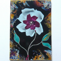 4X6 Fantasy Flower Painting With GLITTER 001.