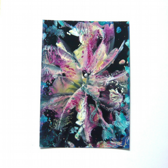 4x6 Wax Art Painting With GLITTER 002.