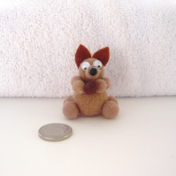 "MINIATURE ""Sally "" The Pom Pom Squirrel With Nut 003."