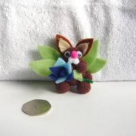 """Bunty"" The Pom Pom Bunny Butterfly With Flower 001."