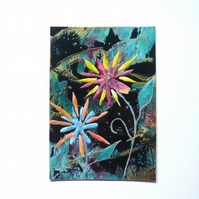 4X6 Fantasy Flower Painting With Glitter 008.