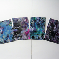 SALE!! BARGAIN!! (Pack of 4) 4x6 Wax Art Paintings 001.