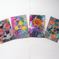 SALE!! BARGAIN!! 4x6 Mixed Flower Wax Art Paintings (Pack of 4) 002.