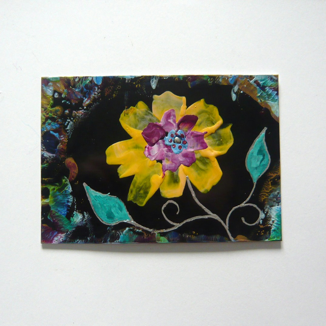 4X6 Fantasy Flower Painting With Glitter 009.