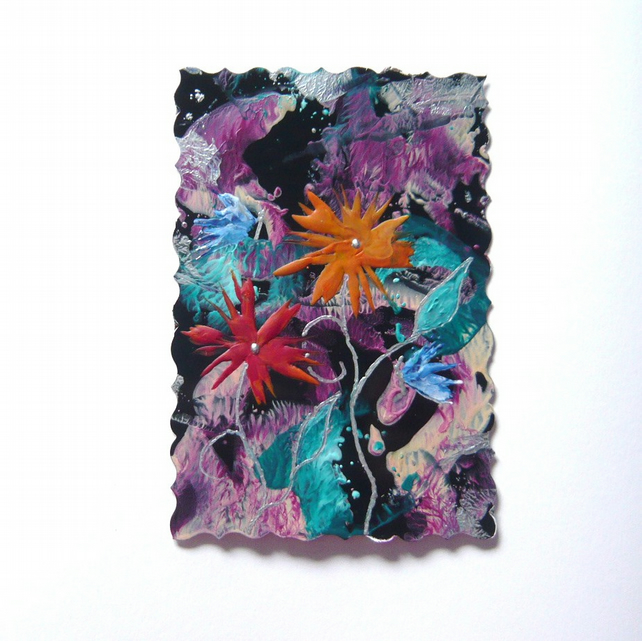 4X6 Fantasy Flower Painting With Butterflies 013.