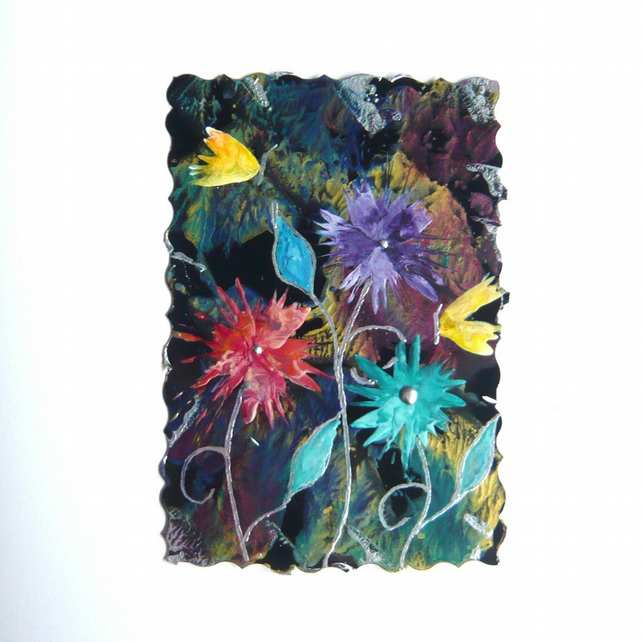 4X6 Fantasy Flower Painting With Butterflies 015.