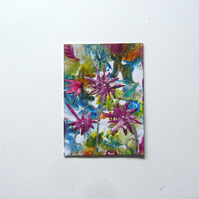 ACEO Fantasy Flower Painting 001.