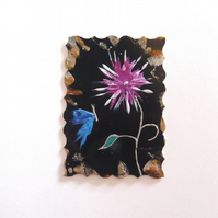 ACEO Fantasy Flower Painting 004.