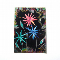 4X6 Fantasy Flower Painting With GLITTER 022