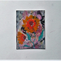 ACEO Sunflower Painting 004.