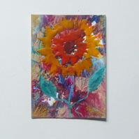 ACEO Sunflower Painting 003.