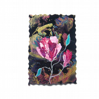 4x6 Rose Painting With Fancy Edging 021.