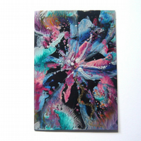 4x6 Wax Art Painting With GLITTER 007.