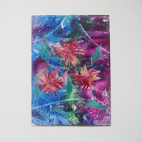 4X6 Fantasy Flower Painting With GLITTER 023.