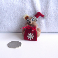 CHRISTMAS Pom Pom Teddy Decoration.