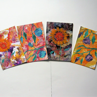 SALE!! BARGAIN!! (Pack of 4) 4x6 Mixed Flower Paintings 011.