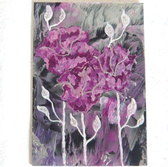 4X6 Impression Flower Painting 005.