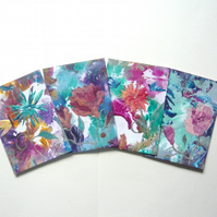 SALE!! BARGAIN!! (Pack of 4) ACEO  Flower Paintings 007.