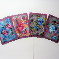 SALE!! BARGAIN!! (Pack of 4) Rose Paintings 013.