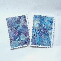 (Pack of 2) Birthday.Greeting Cards With Fancy Edging 001.