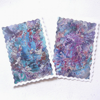 (Pack of 2) Birthday Greeting Cards With Fancy Edging 002.