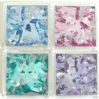 Set Of 4 Wax Art Coasters 003.
