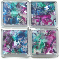 Set Of 4 Wax Art Coasters 004.