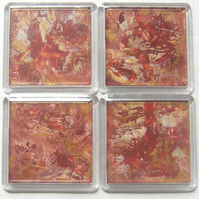 Set Of 4 Wax Art Coasters 005.