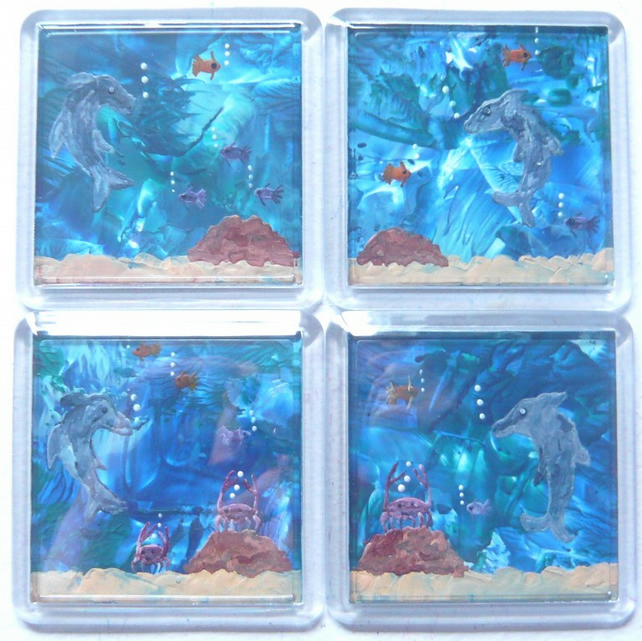 Set Of 4 Dolphin Coasters 001.