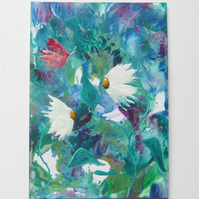 4x6 Daisy Painting With GLITTER 006.